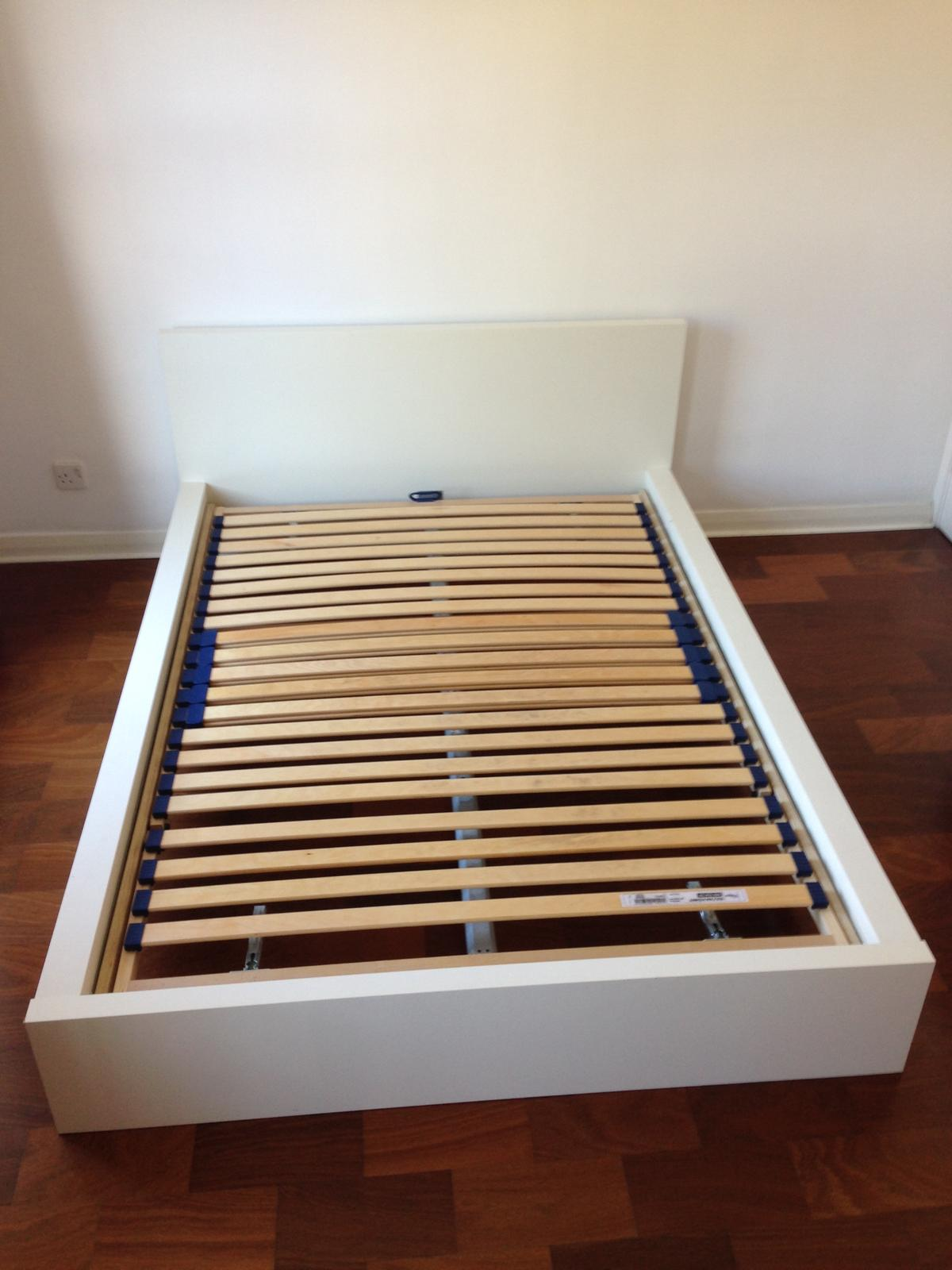 Complete IKEA Malm bed (white) in KT2 Thames for £110 00 for