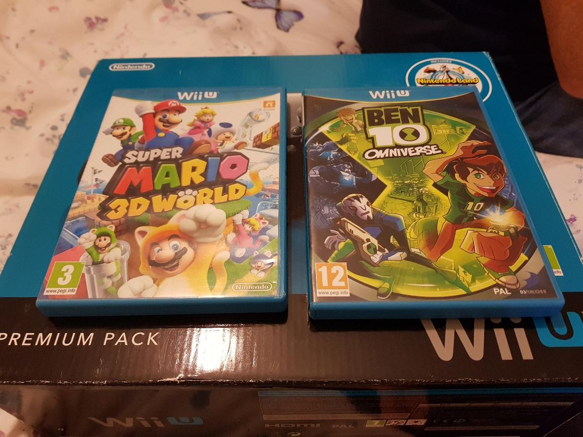 Wii U Console, 3 games and accessories