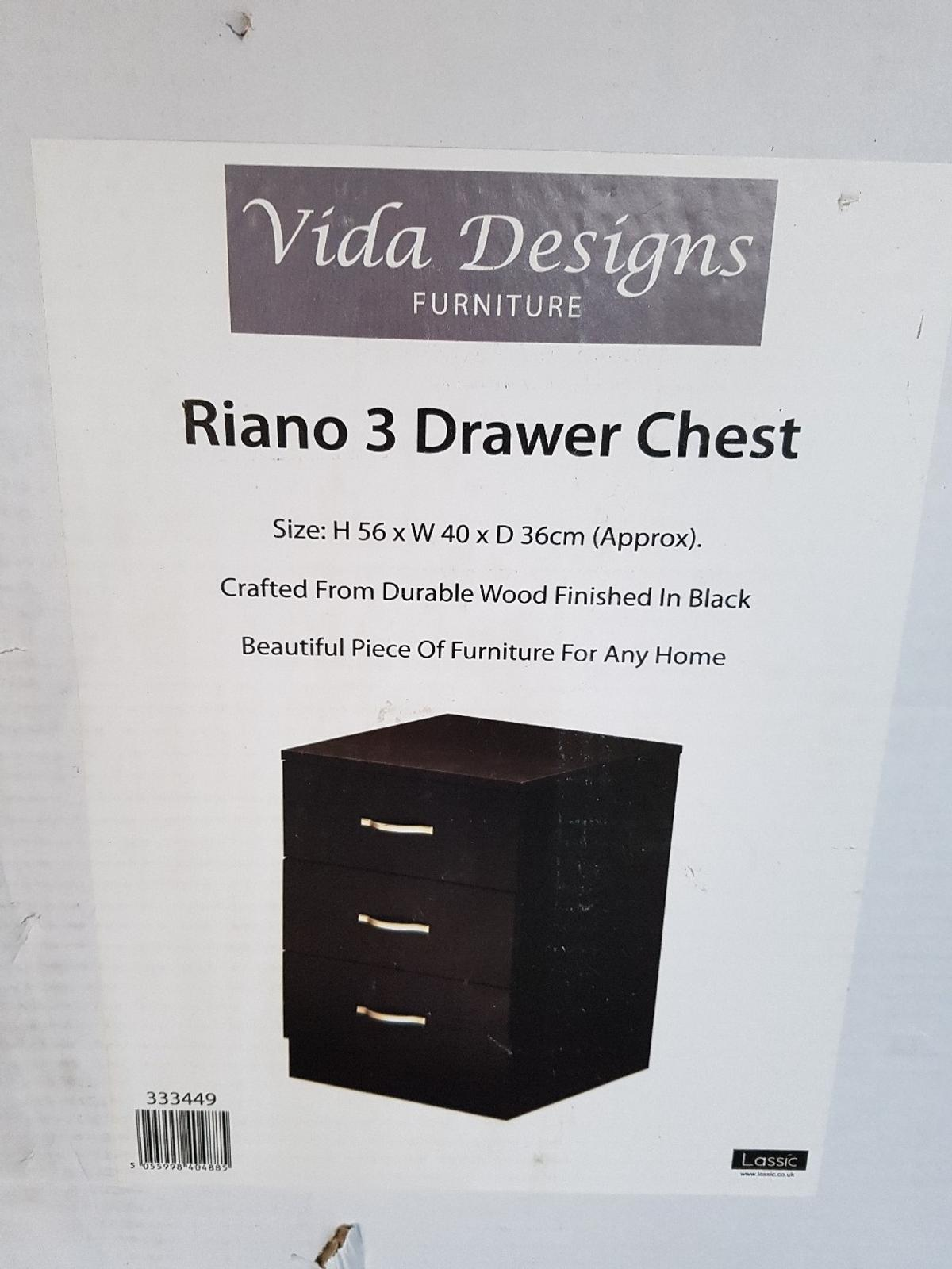 Home Discount Walnut Chest of Drawers 5 Drawer With Metal Handles /& Runners Unique Anti-Bowing Drawer Support Riano Bedroom Storage Furniture