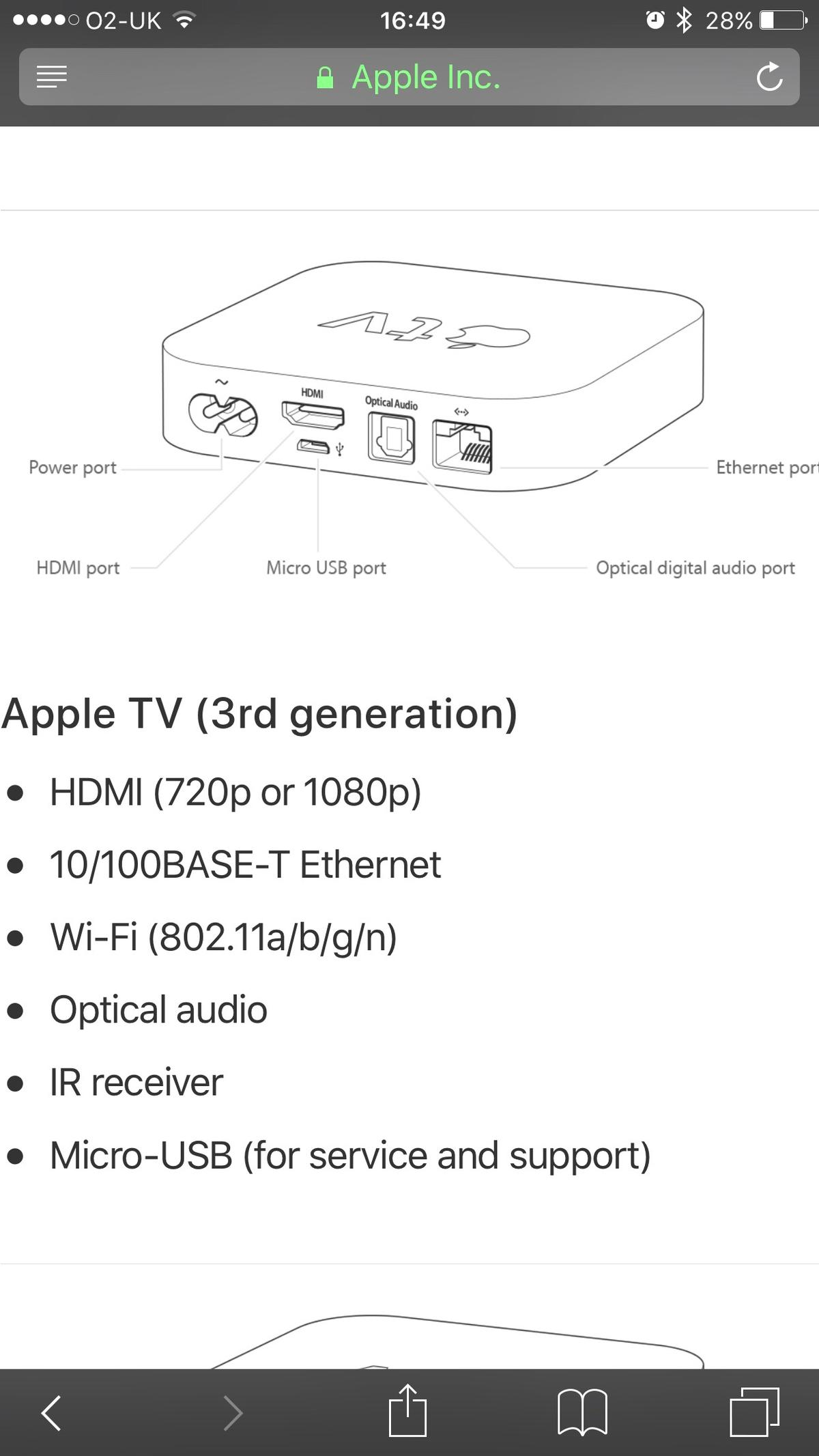 Apple TV 3RD Generation in S66 Maltby for £45 00 for sale