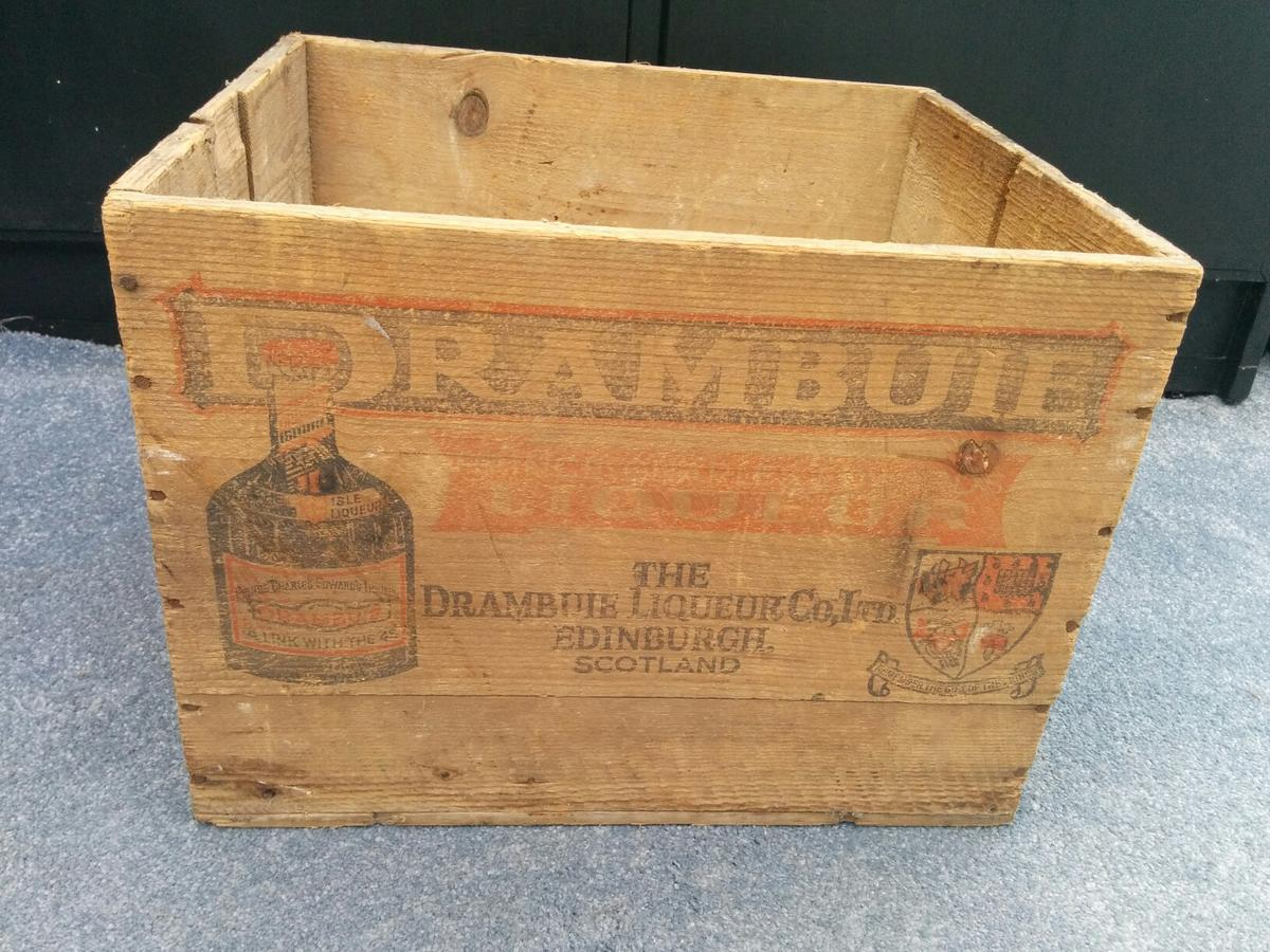 Vintage Drambuie Wooden Crate Box In Da16 Welling For 2500 For