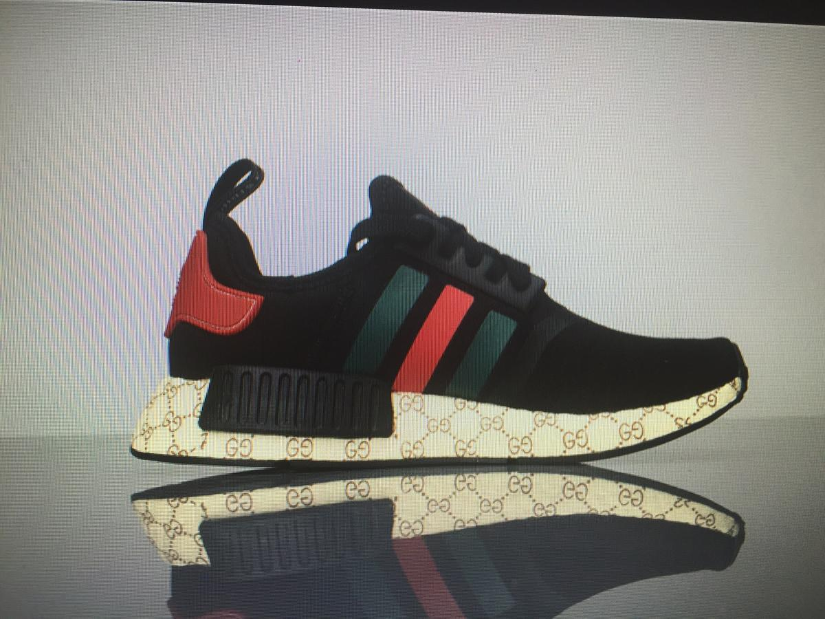 newest collection 47749 0639c Adidas NMD x gucci black