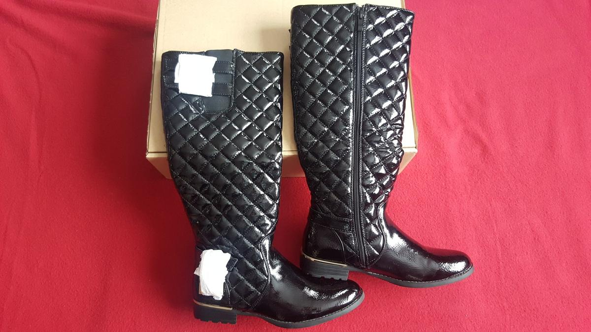 ae47a260d2f BNIB Black Knee High Patent Boots 7 Ladies in CV10 Nuneaton for £30.00 for  sale - Shpock