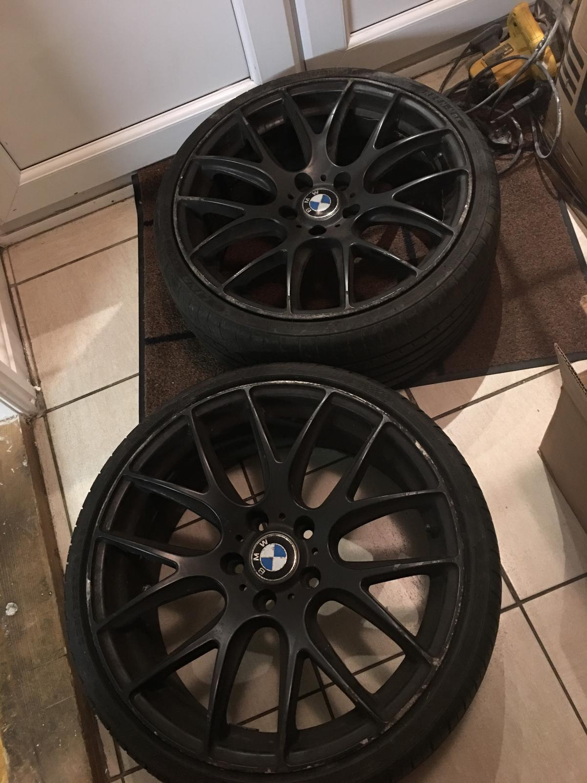 Bmw Black Rims 2 Alloys Including Tyres In Ws2 Walsall For 60 00 For Sale Shpock