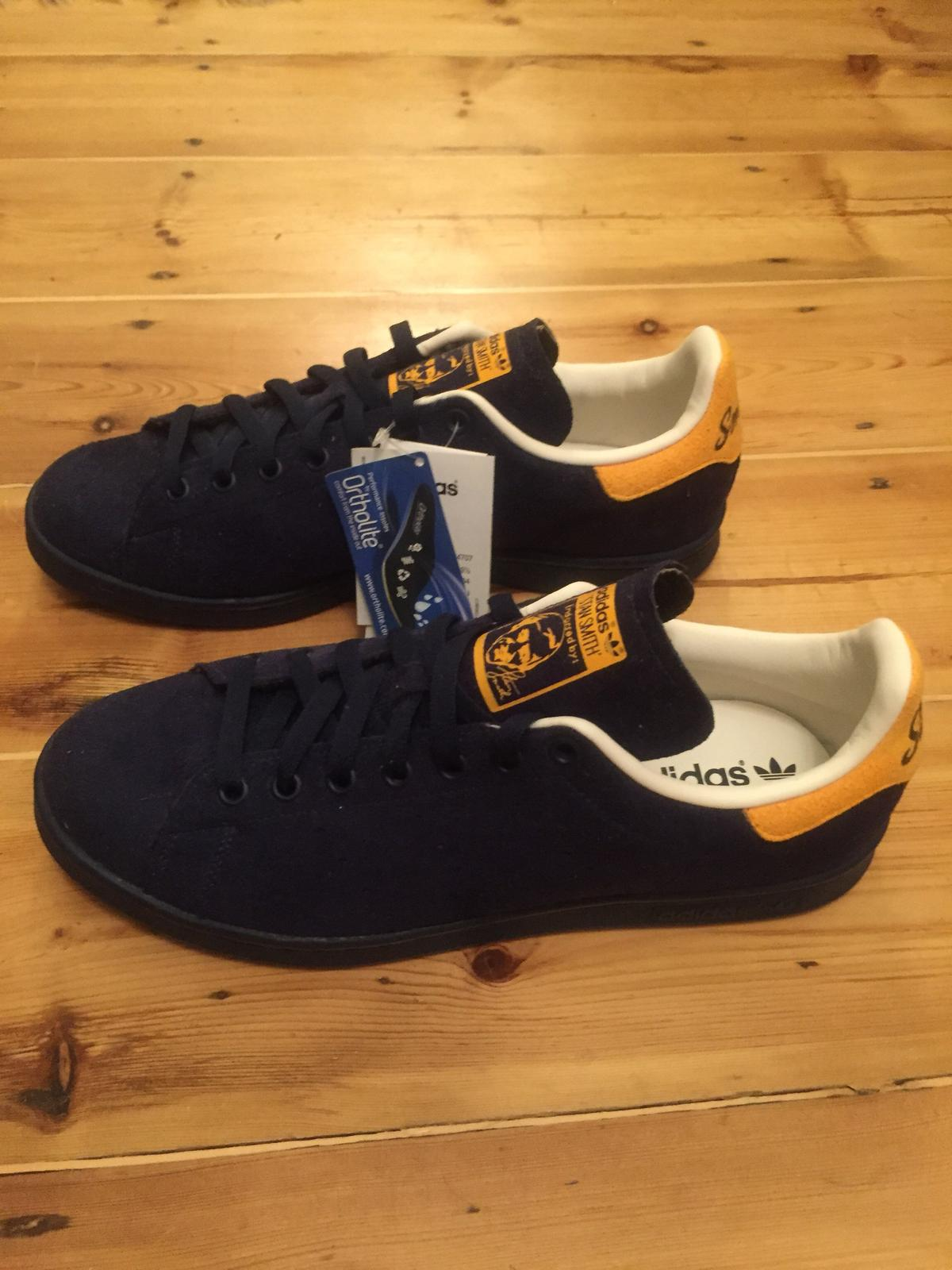 new product c9f0a 2c47a Adidas Stan Smith UK 9.5 Navy/yellow in SE3 London for ...