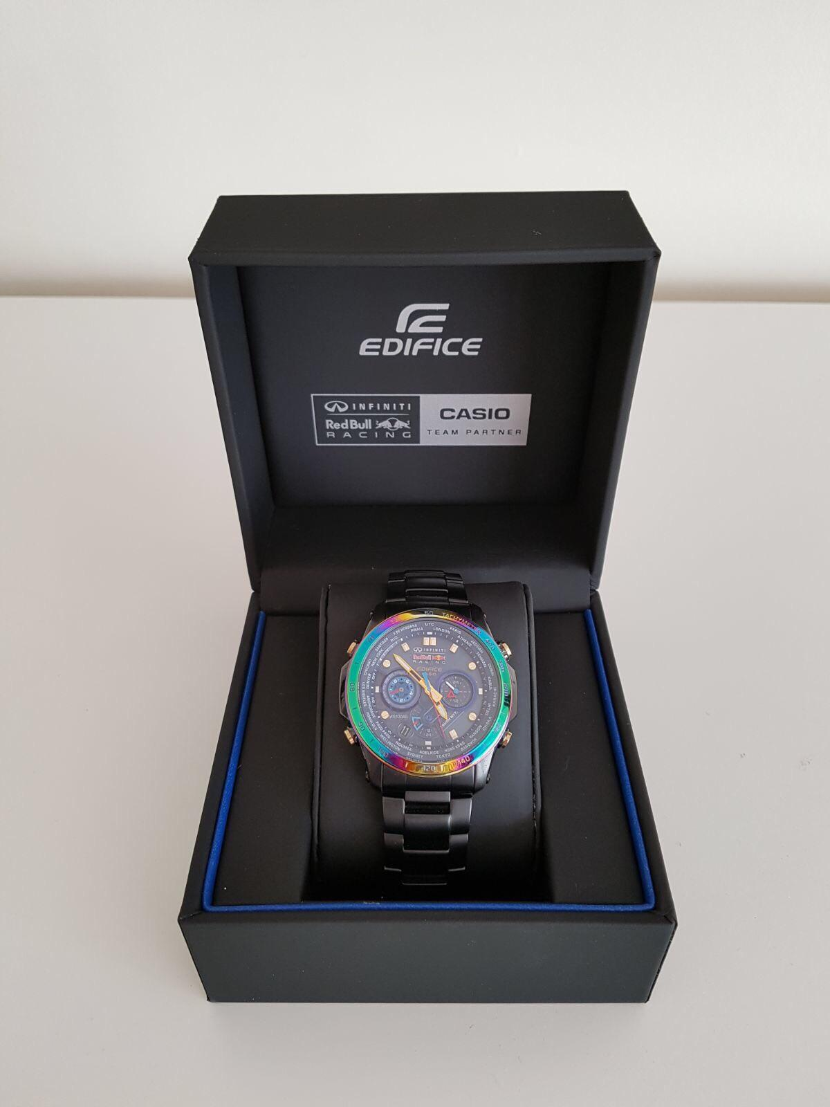 Limited Addition Casio Edifice Red Bull Watc In Co5 Tiptree For