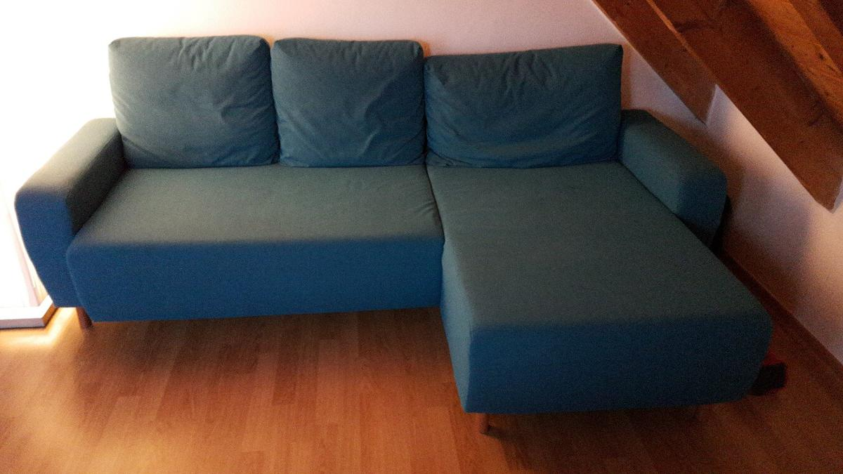 Ikea Delsbo 2er Sofa Mit Recamiere In Turkis In 85290 Geisenfeld For 150 00 For Sale Shpock