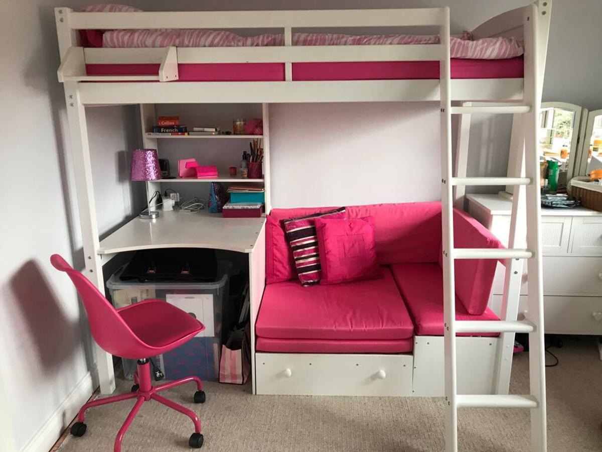 Picture of: Argos Highsleeper Bed With Desk Pink Sofa In De13 Lichfield For 150 00 For Sale Shpock