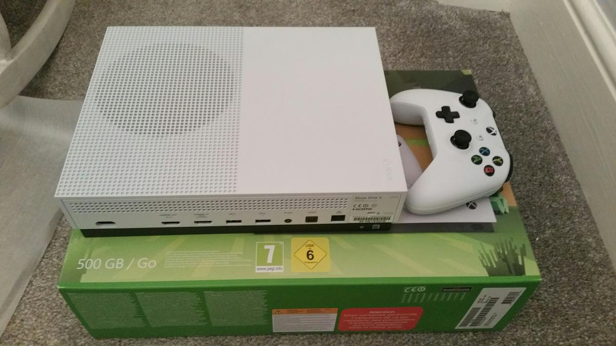 Xbox One S white console 500Gb in DE56 Belper for £140 00