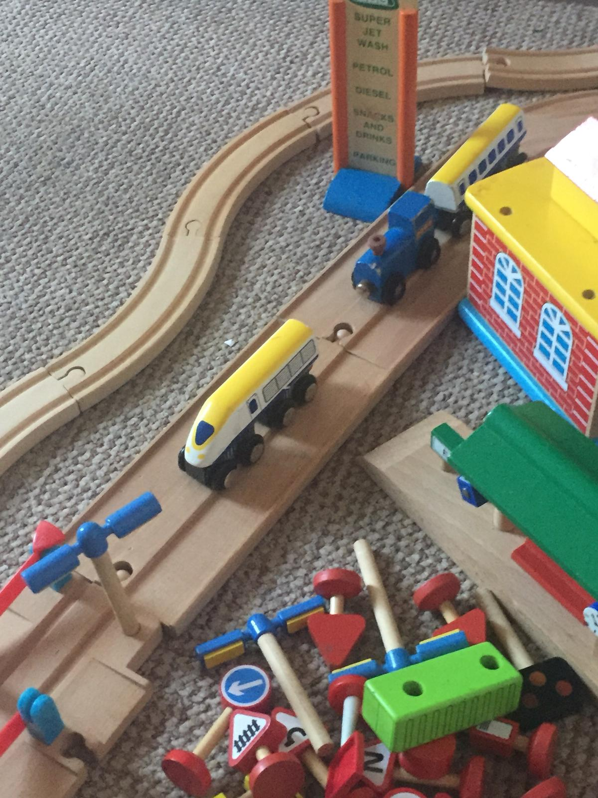 Early Learning Centre Wooden Train Car Trac In Fy5 Wyre For 2500