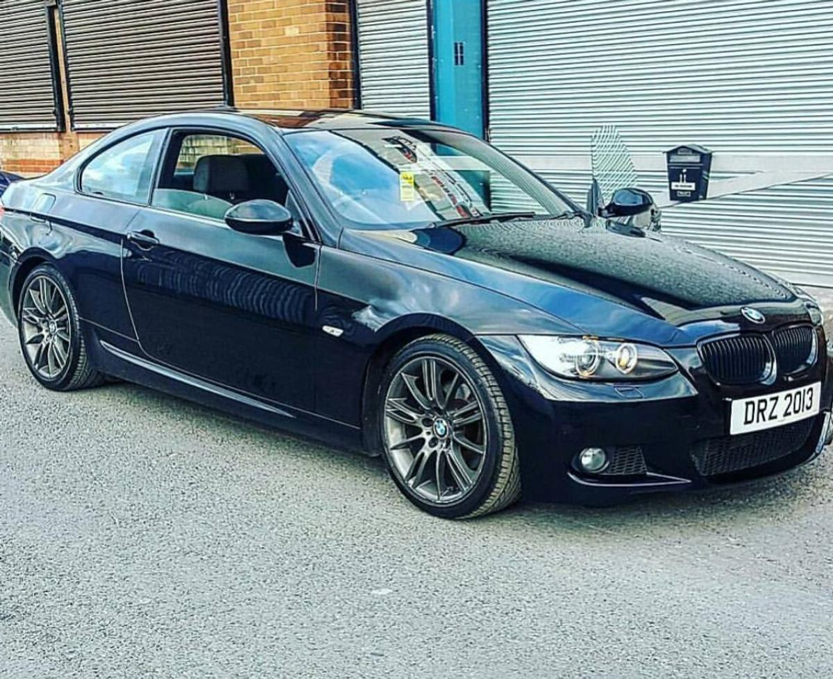 Bmw 3 Series Coupe 09 Plate Black