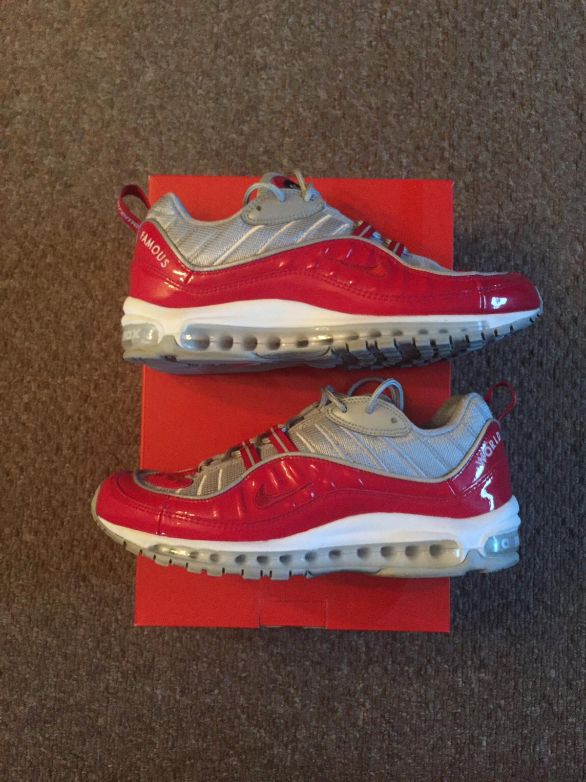 Supreme X Nike Air Max 98 Red UK 8 US 9 in SW10 London for