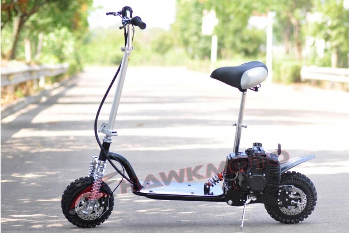 Hawkmoto 49cc petrol scooter goped in Child's Ercall for