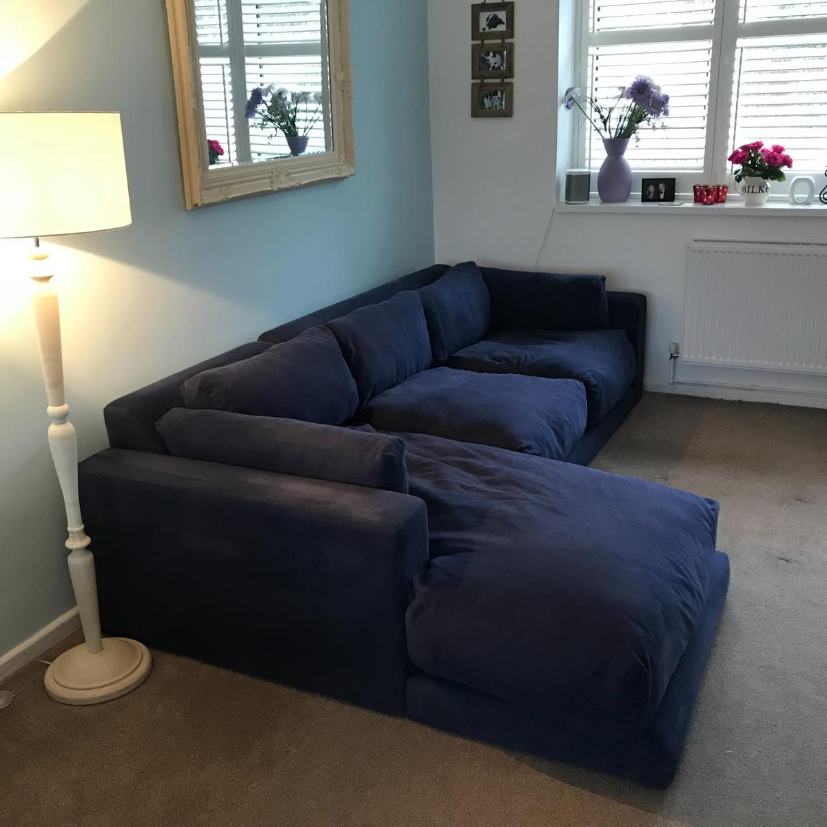 cheaper bcee4 78c1b Large Blue Loaf Atticus Chaise sofa - left ha in BR7 ...