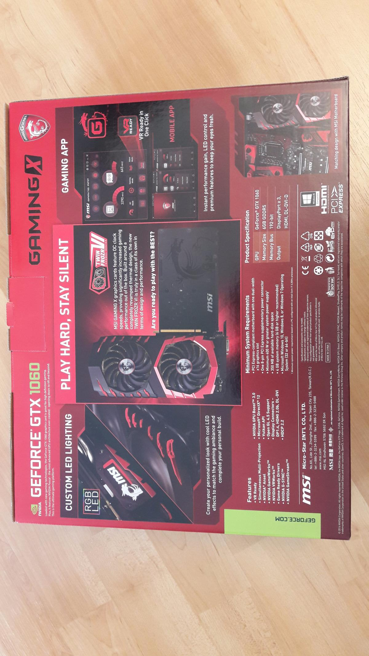 MSI NVIDIA GeForce GTX 1060 GAMING X 6 GB in NW3 London for