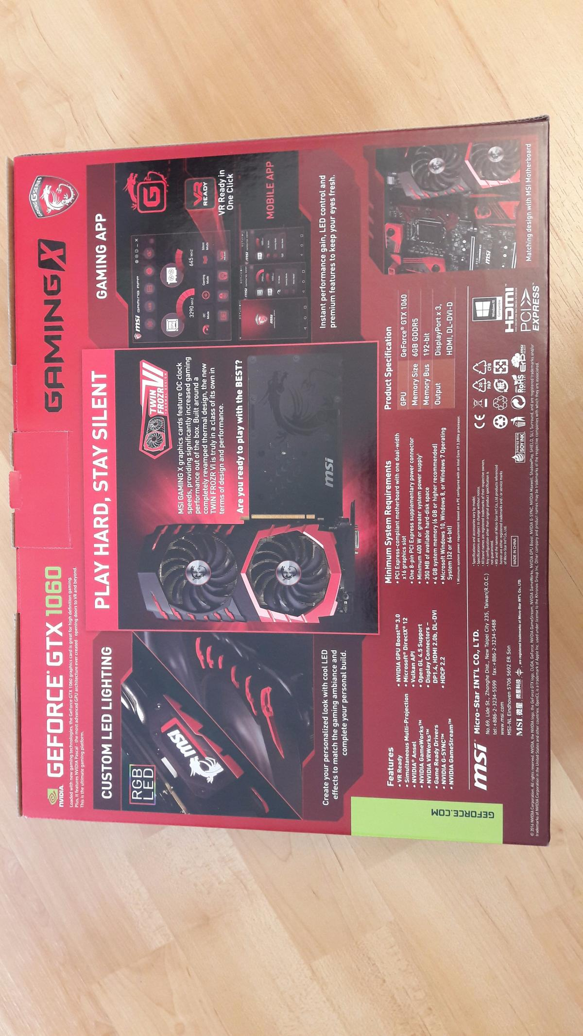 MSI NVIDIA GeForce GTX 1060 GAMING X 6 GB in NW3 London for £250 00