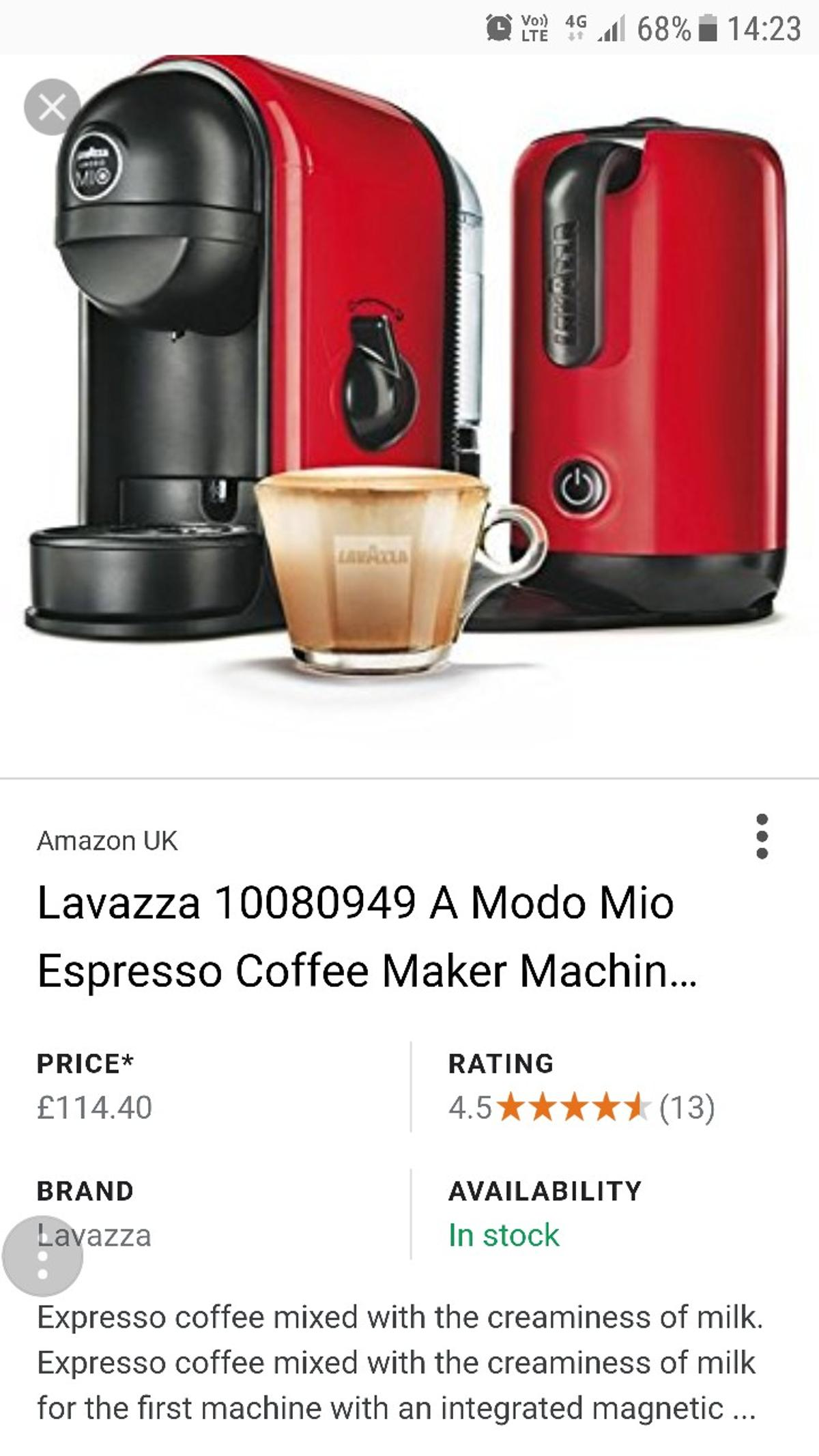 Lavazza Coffee Machine With Frother