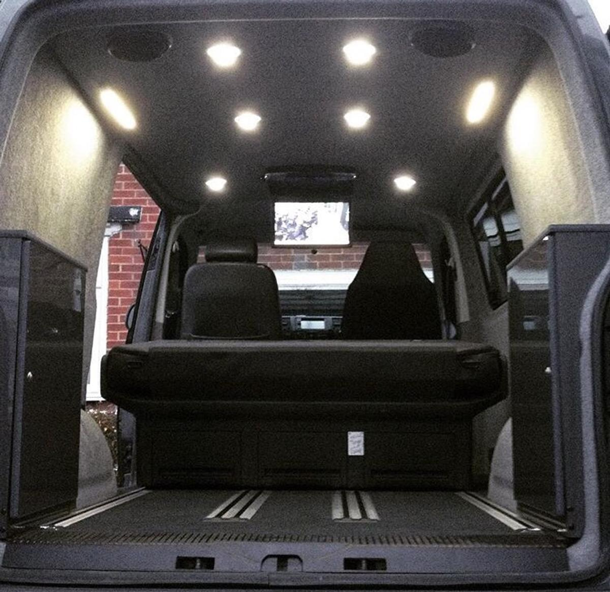 VW T5 caravelle rear leather seat bed