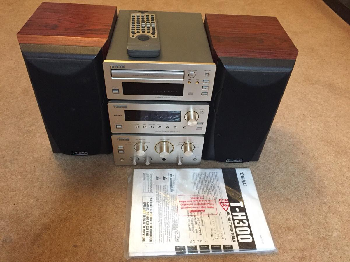 Teac H-300 series Stereo with Mission Speaker in S70