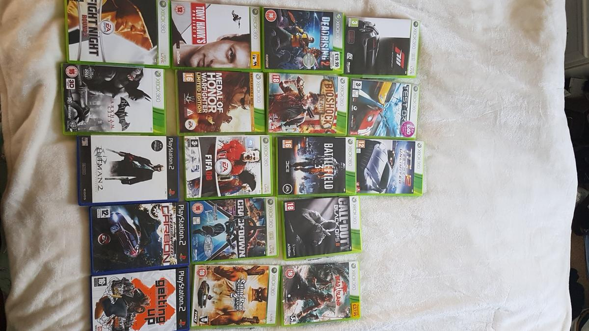 Xbox 360 games and ps2 games bundle
