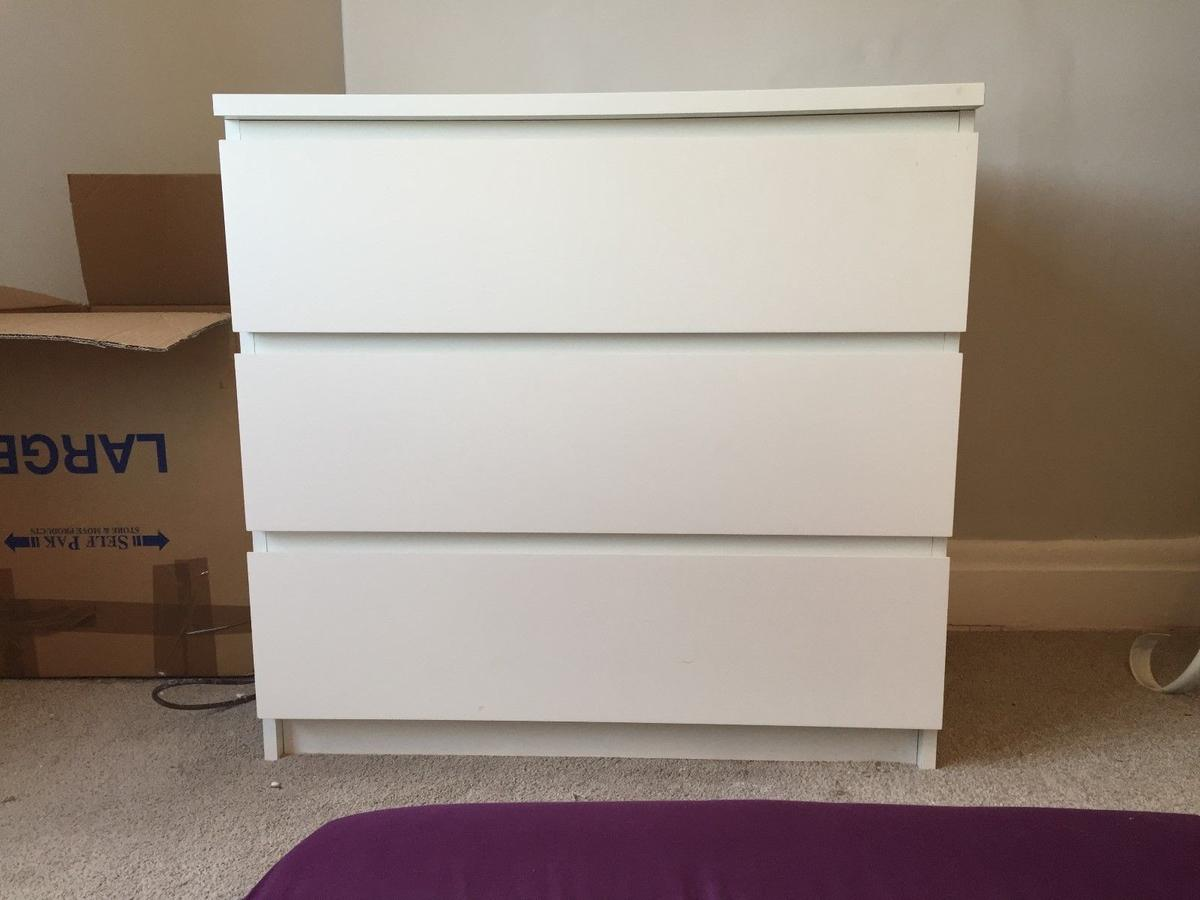 the best attitude 8f8f8 b4337 IKEA Malm White Chest of Drawers - 3 Drawers