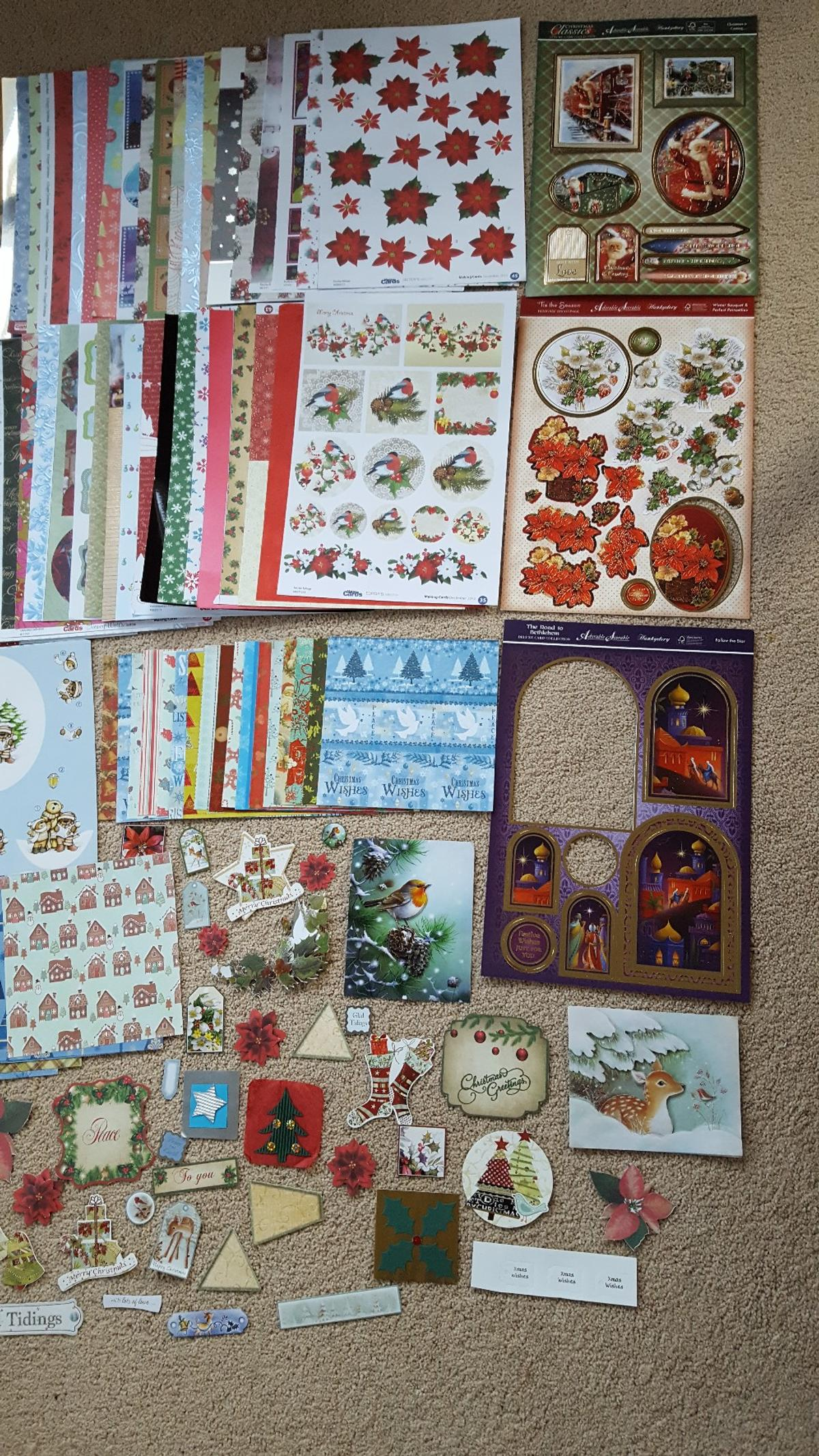 Christmas Toppers For Card Making.Christmas Card Making Kit No2