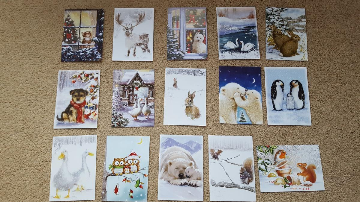 Christmas Toppers For Card Making.Hunkydory 15 X Christmas Animals Card Topper