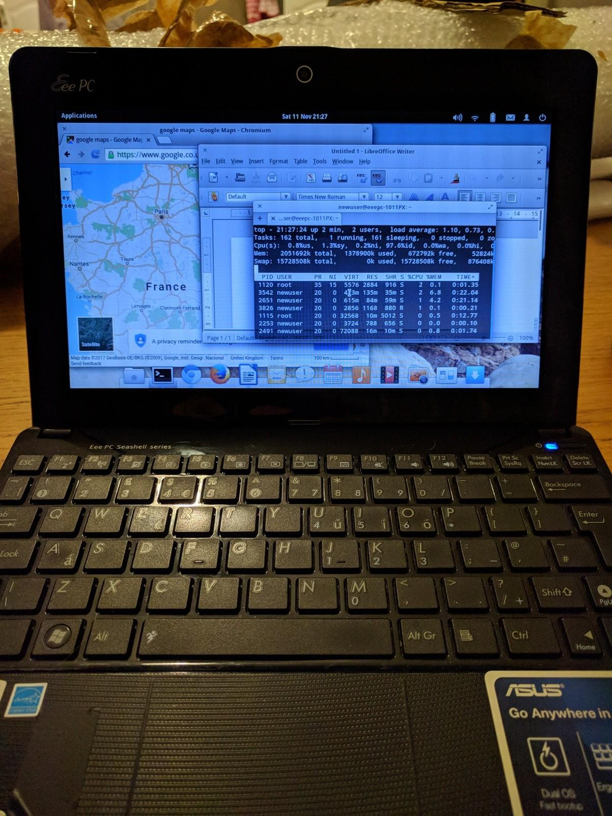 ASUS 1011px Netbook dual boot Win10/linux in NG8 Nottingham