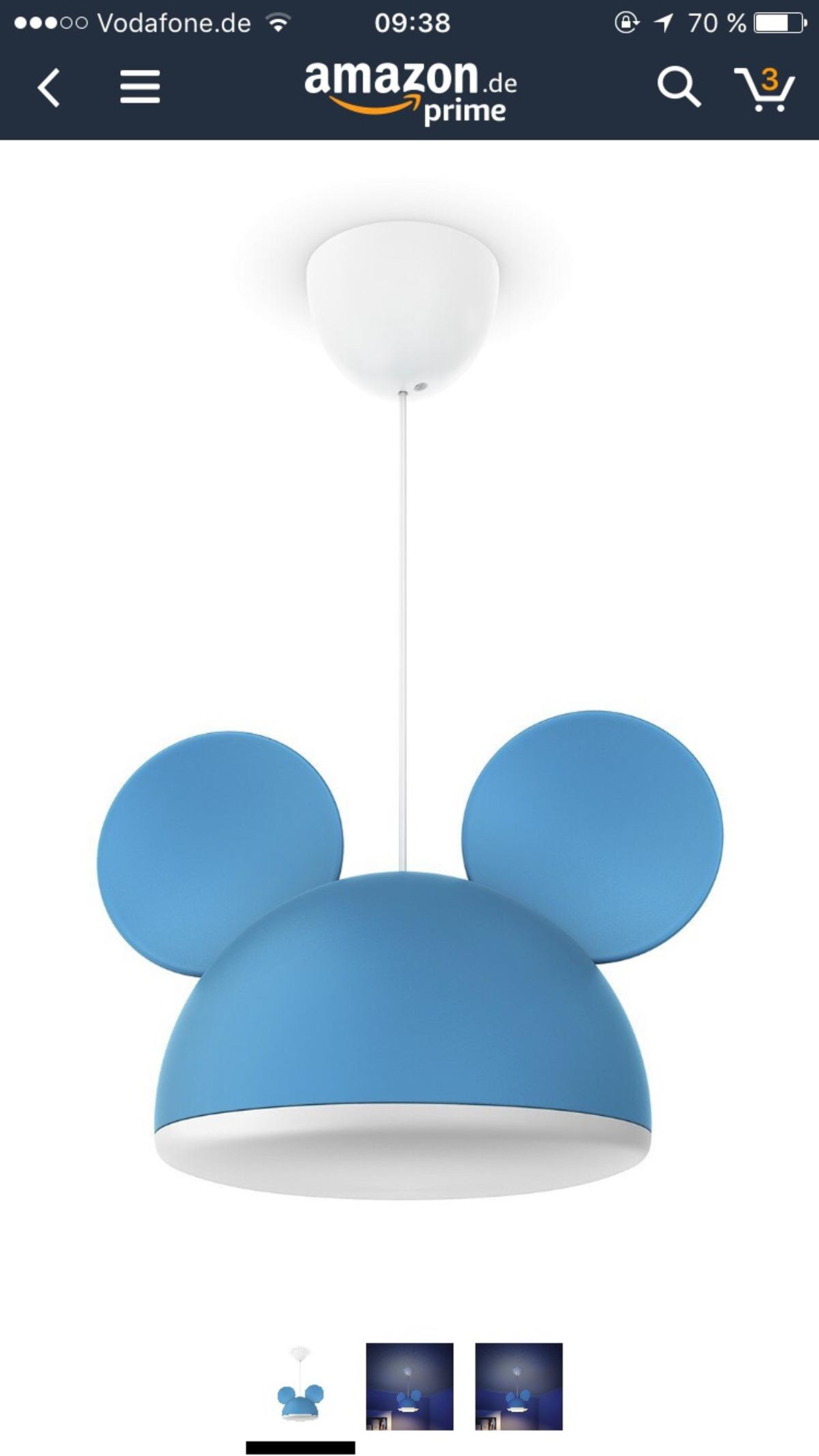 Lampe Kinderzimmer Mickey mouse in 63477 Maintal for €25.00 ...