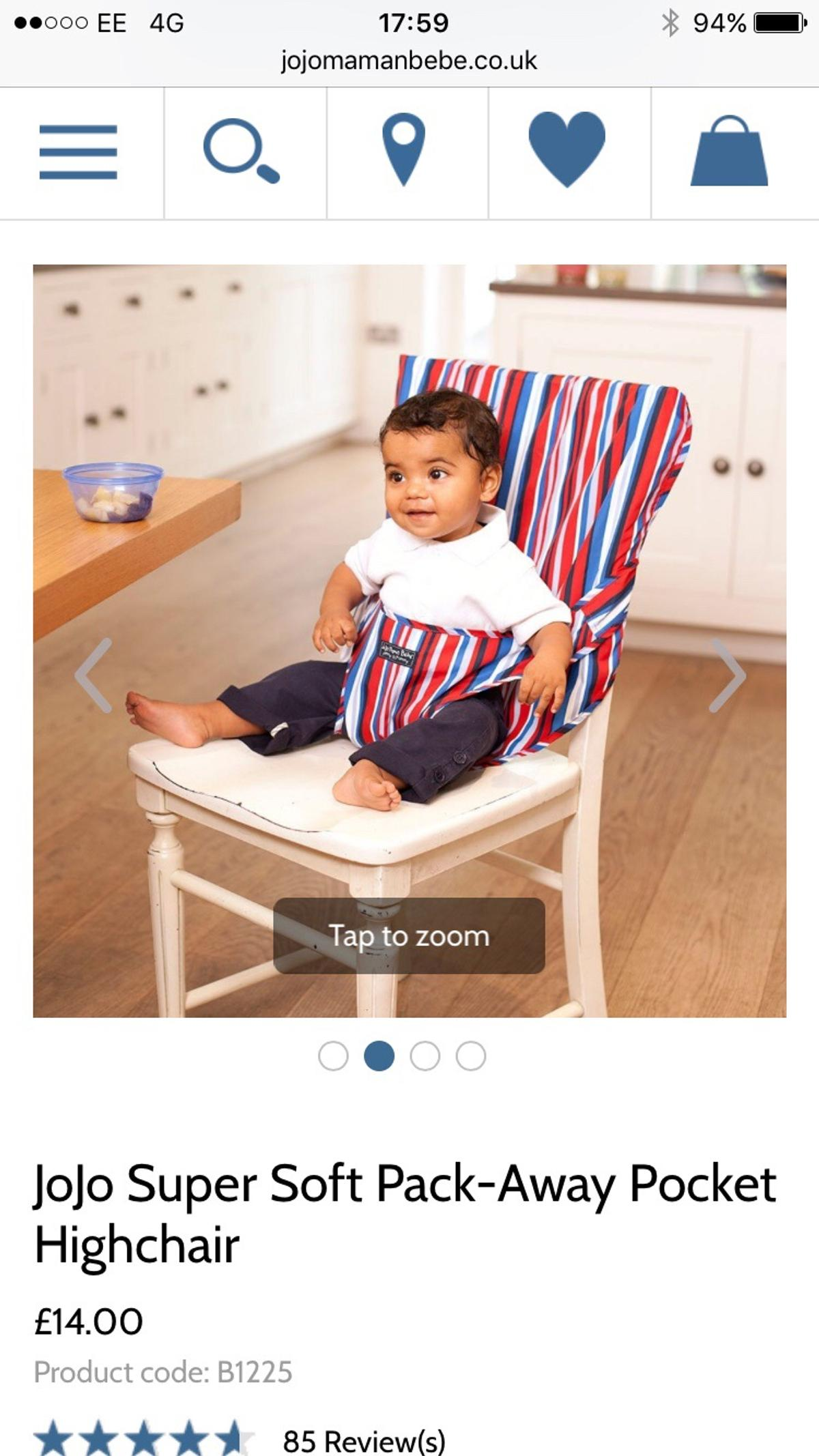 60492e2252 Jojo maman Bebe pack away pocket high chair in L17 Liverpool for ...