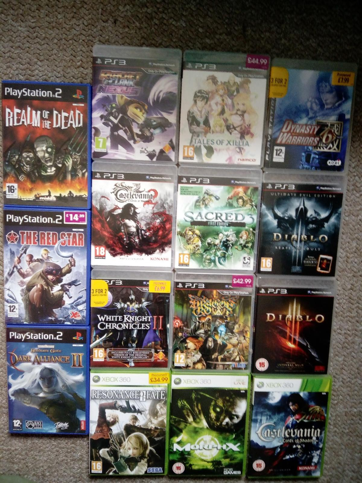 PS2 PS3 XBOX360 GAMES