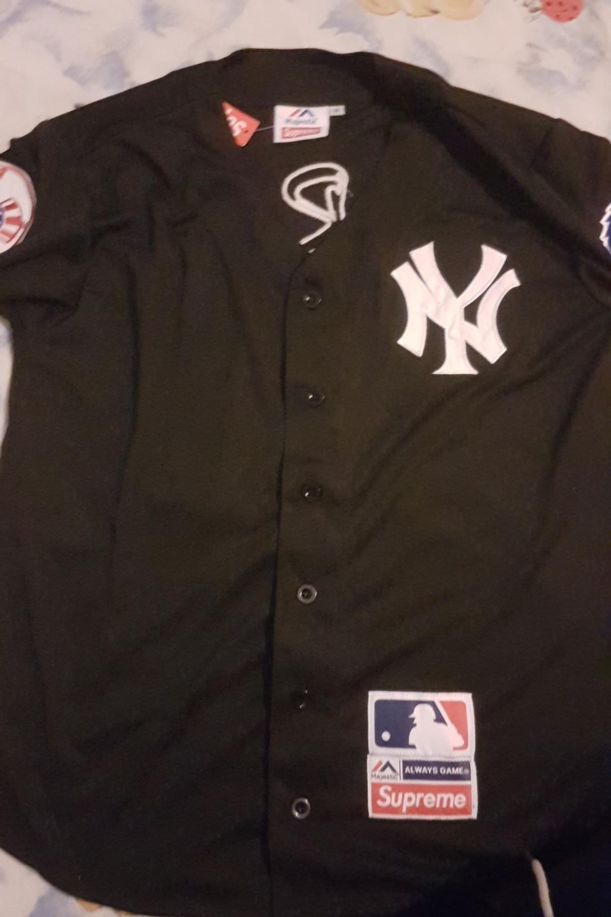 huge selection of e8a28 3ac36 Supreme NY Yankees Jersey rep