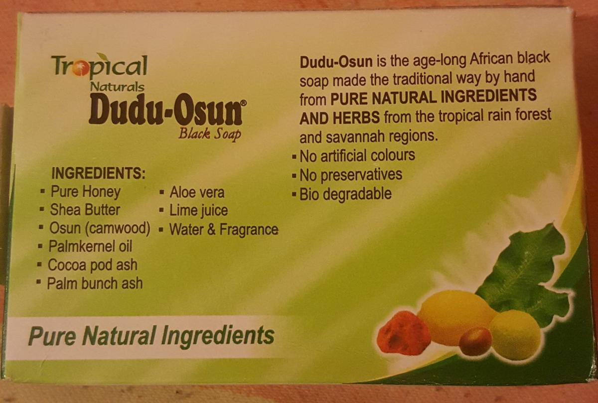 Black African soap/clears acne and blemishes