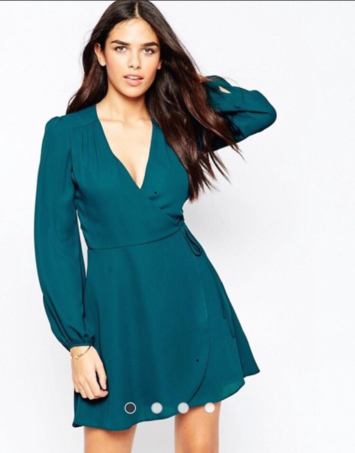 679f887ab76c9 Asos mini wrap dress with blouson sleeves in NR34 Waveney for £15.00 ...