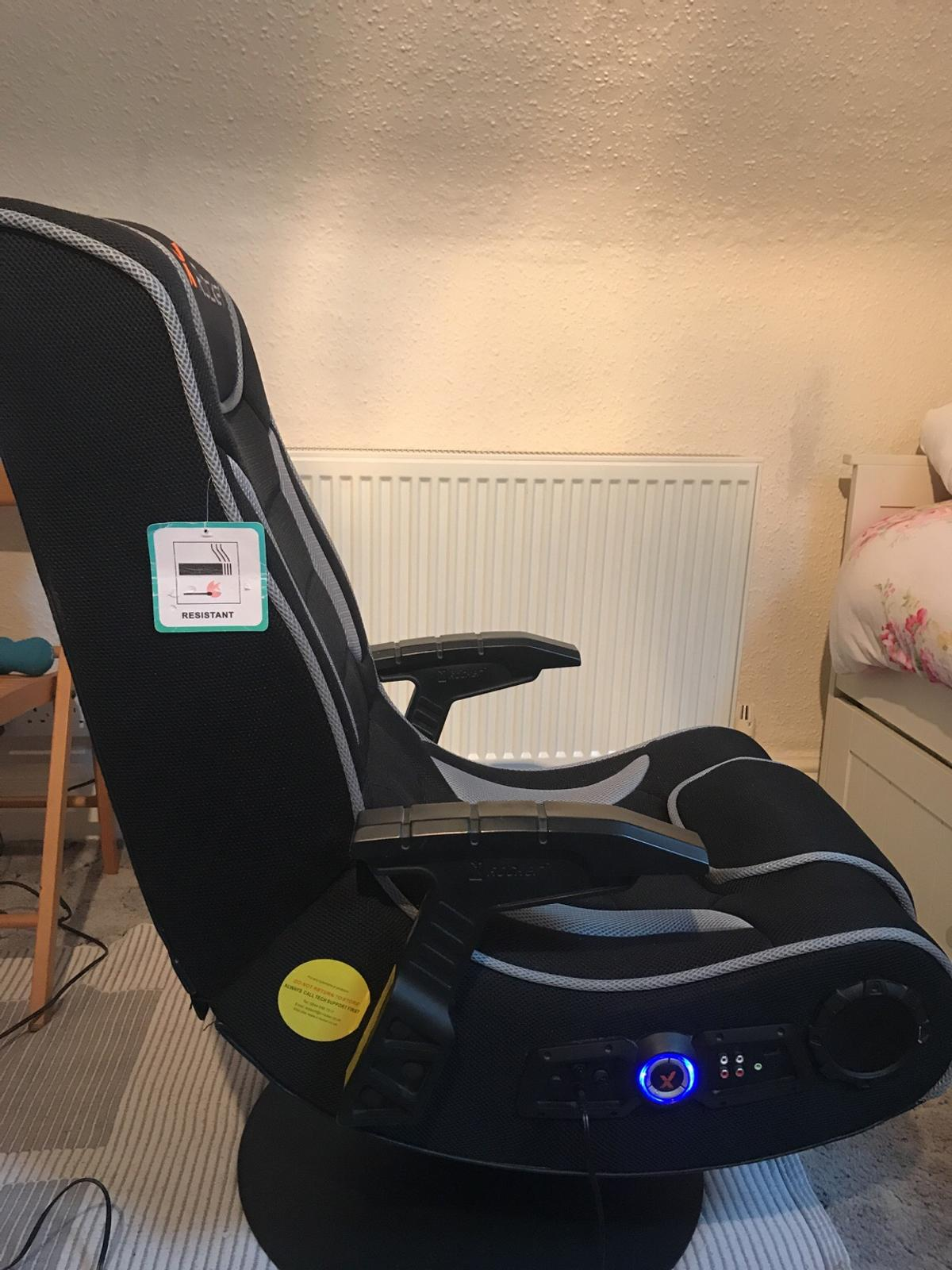 Pictures On X Rocker Gaming Chair White