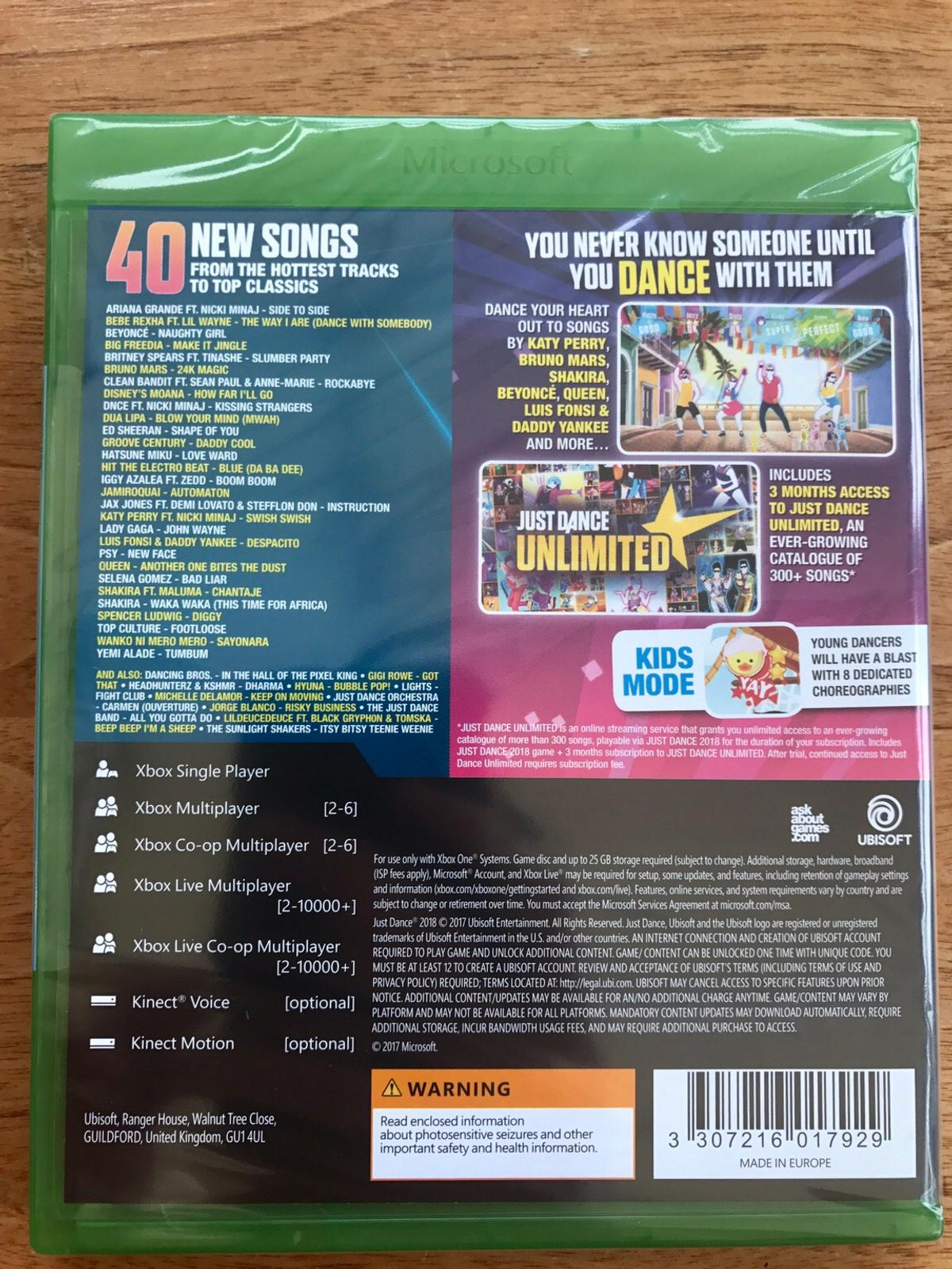 Just Dance 2018 - Xbox One - NEW & SEALED