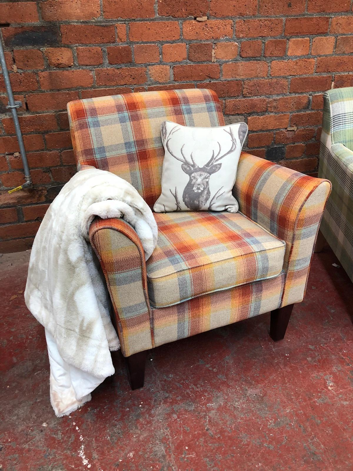 Groovy Next Ex Display Tartan Alfie Accent Chairs In Ls22 Leeds For Ocoug Best Dining Table And Chair Ideas Images Ocougorg