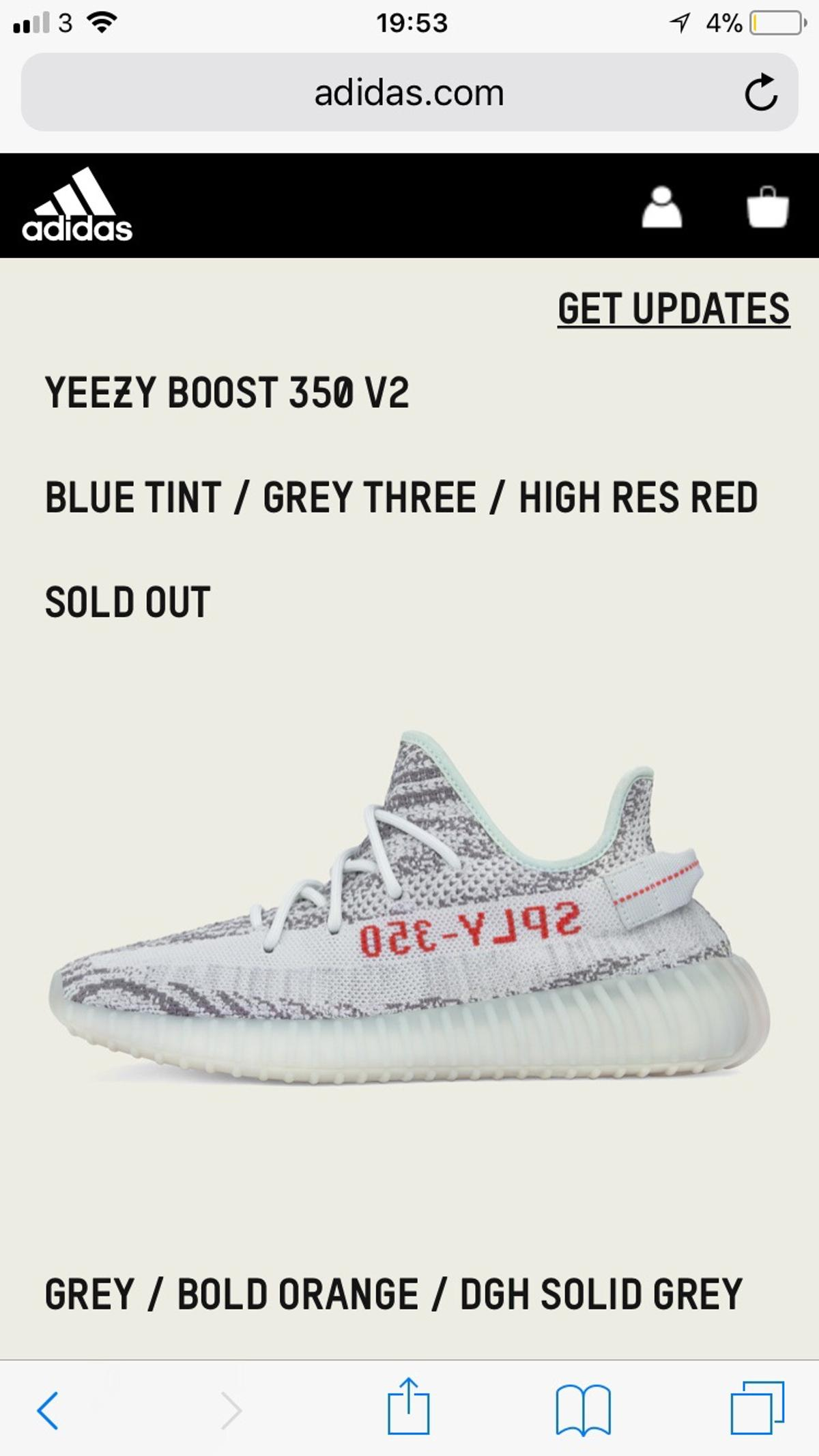low priced f000f 35297 Yeezy Boost 350 V2 Blue Tint (PRICE DROP)