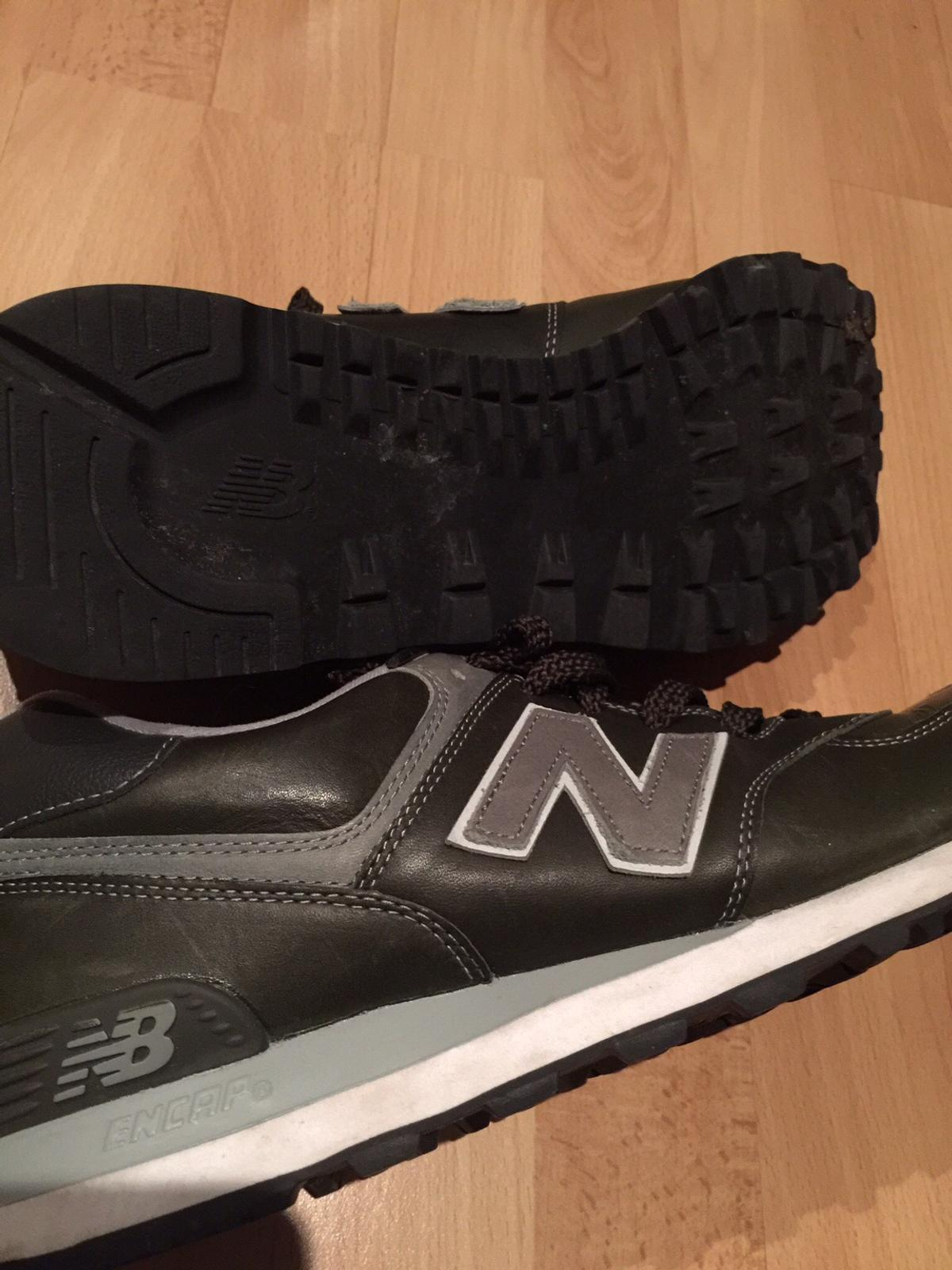 cheap for discount c434a f151f Dunkelgrüne Lederschuhe New Balance 45
