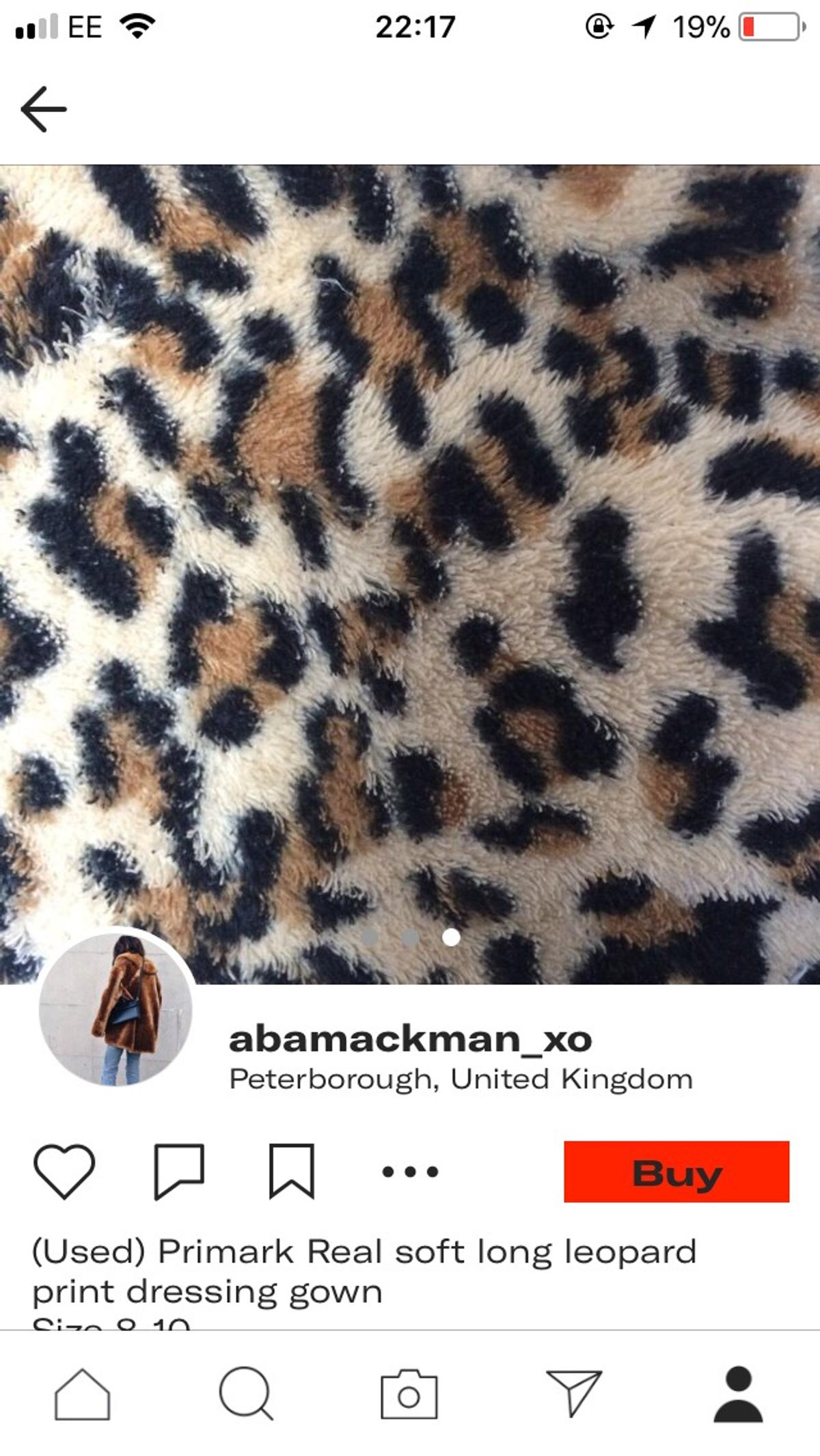 Primark Leopard Print Dressing Gown