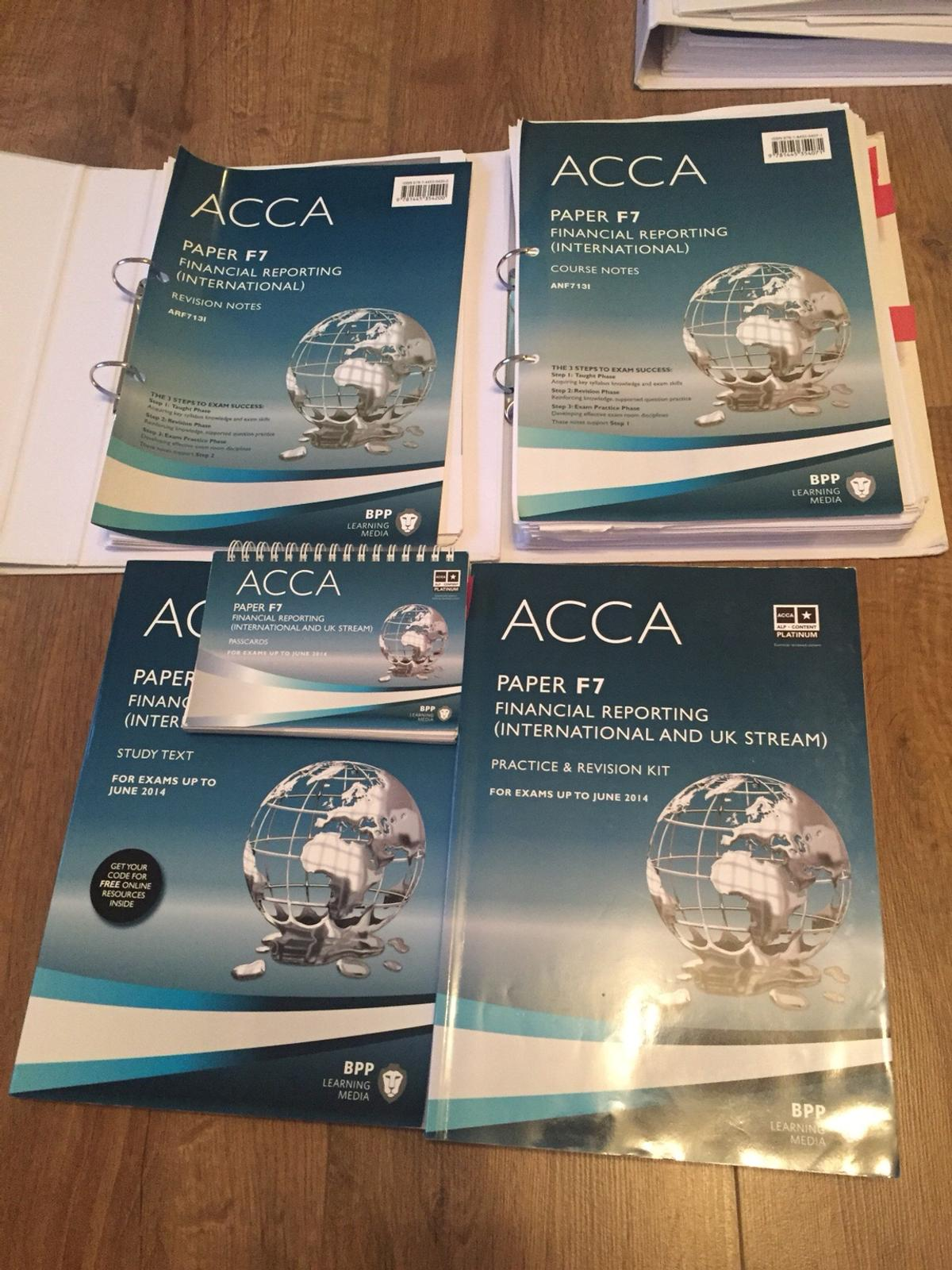 F7 ACCA exams accountancy books BPP in SE23 Lewisham for