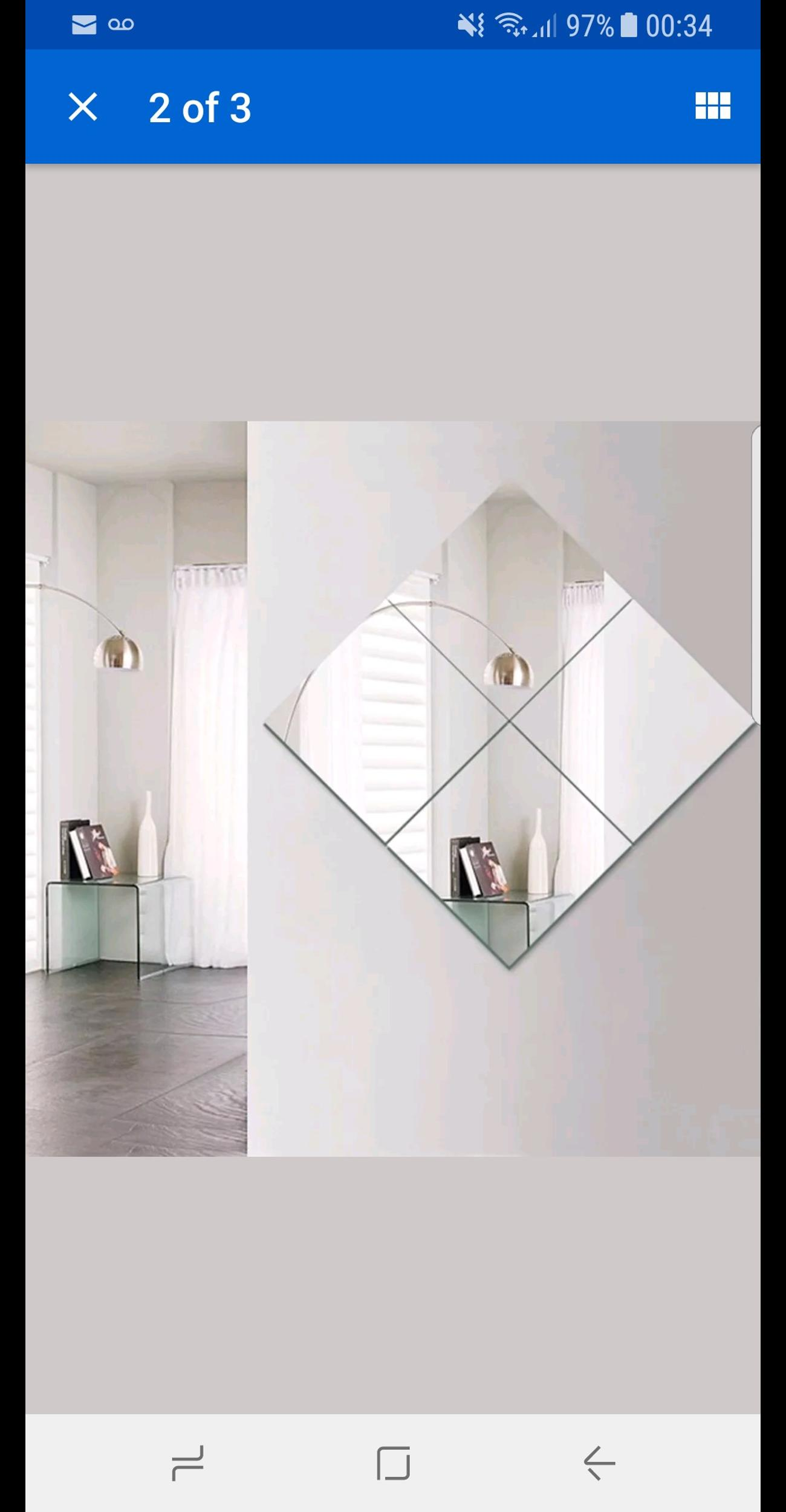 Wall Tiles Gl Mirror Decoration Set