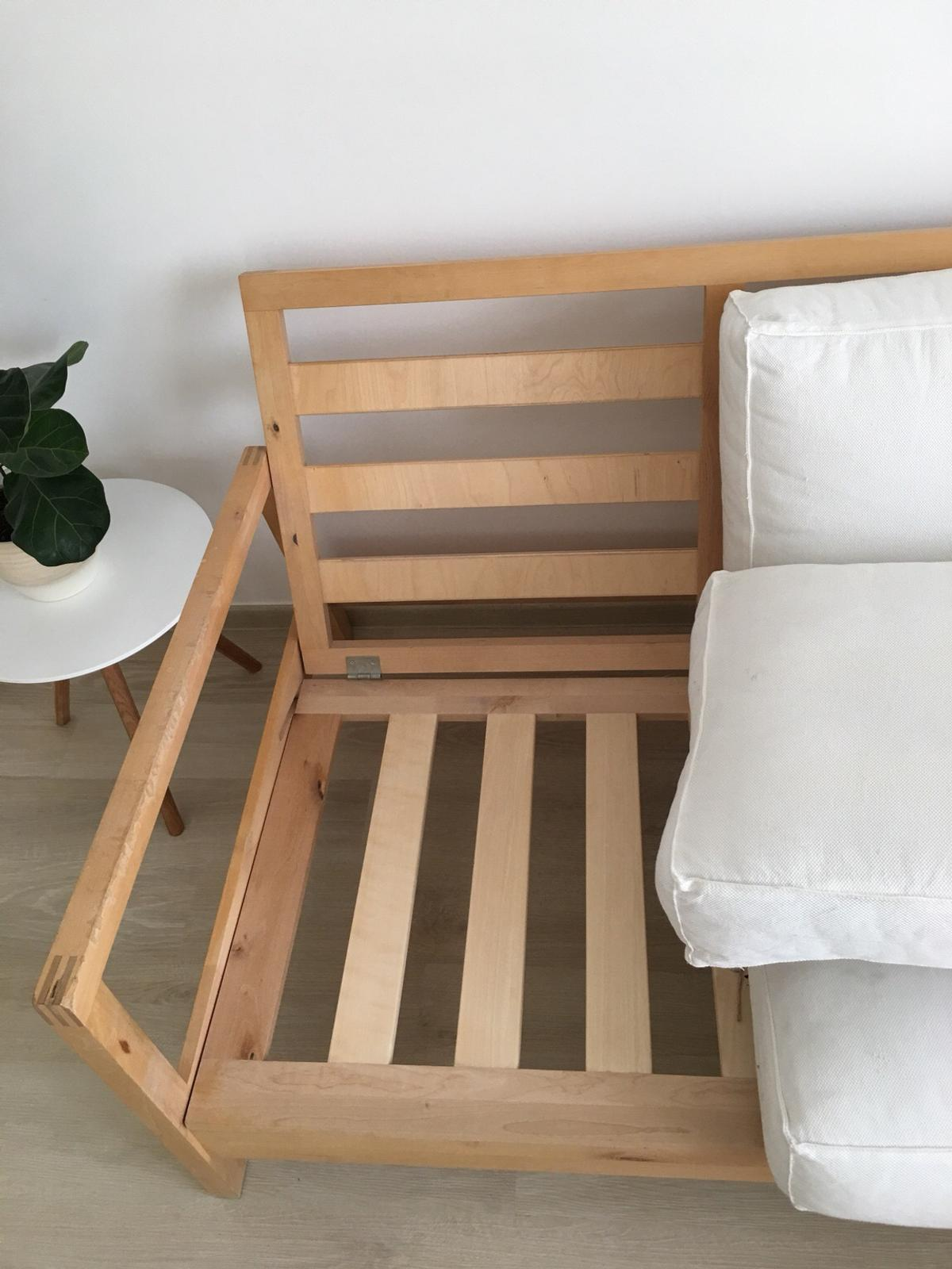 Sofa Couch 2er Weiss Holz Ikea In 16540 Hohen Neuendorf For 50 00 For Sale Shpock