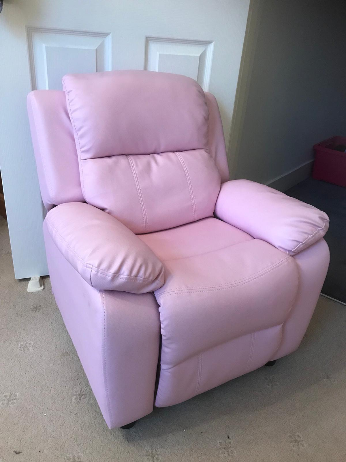 Remarkable Kids Pink Recliner Chair With Arm Pockets In N21 London Andrewgaddart Wooden Chair Designs For Living Room Andrewgaddartcom