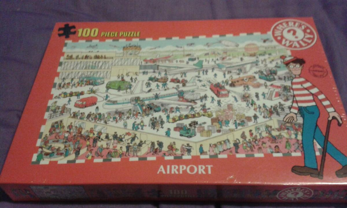 Where's Wally 100 Piece Puzzle Airport
