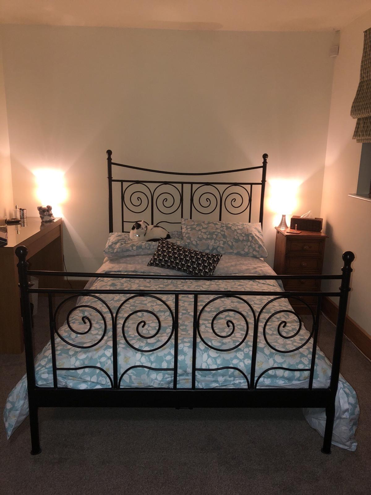 Ikea Ornate Metal Bed Frame Double In