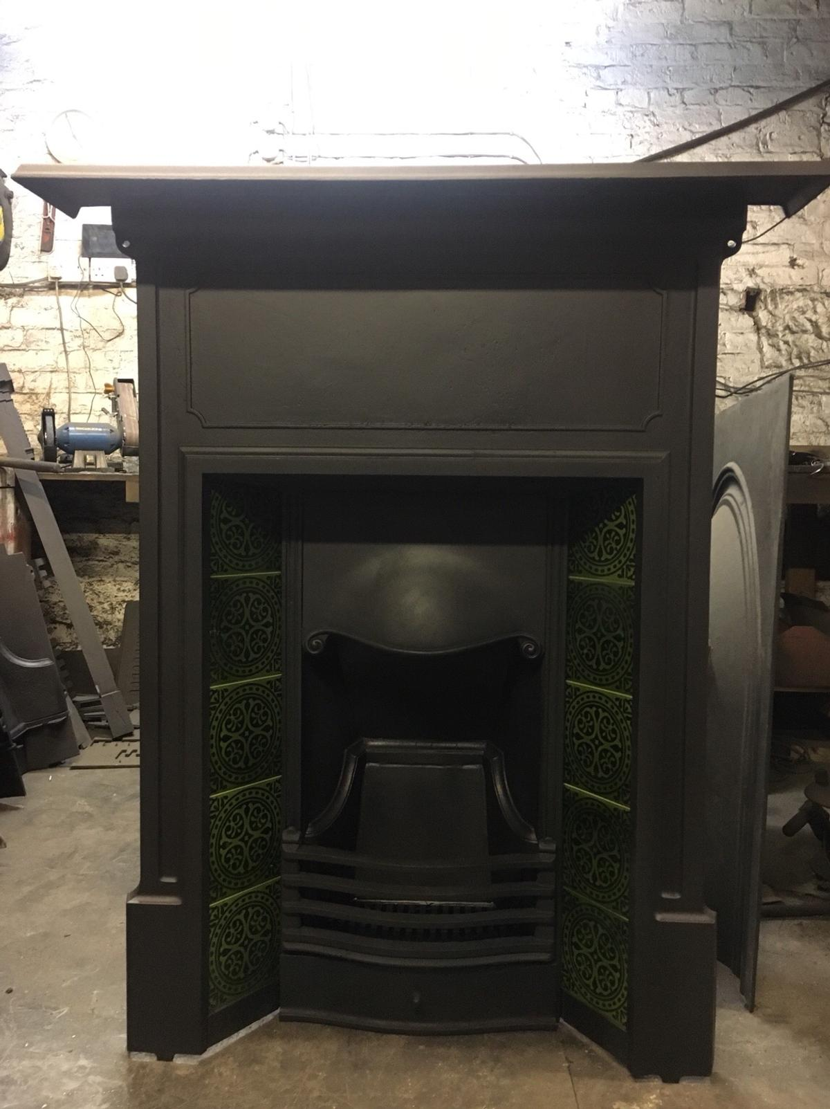 Antique Cast Iron Fireplace In West