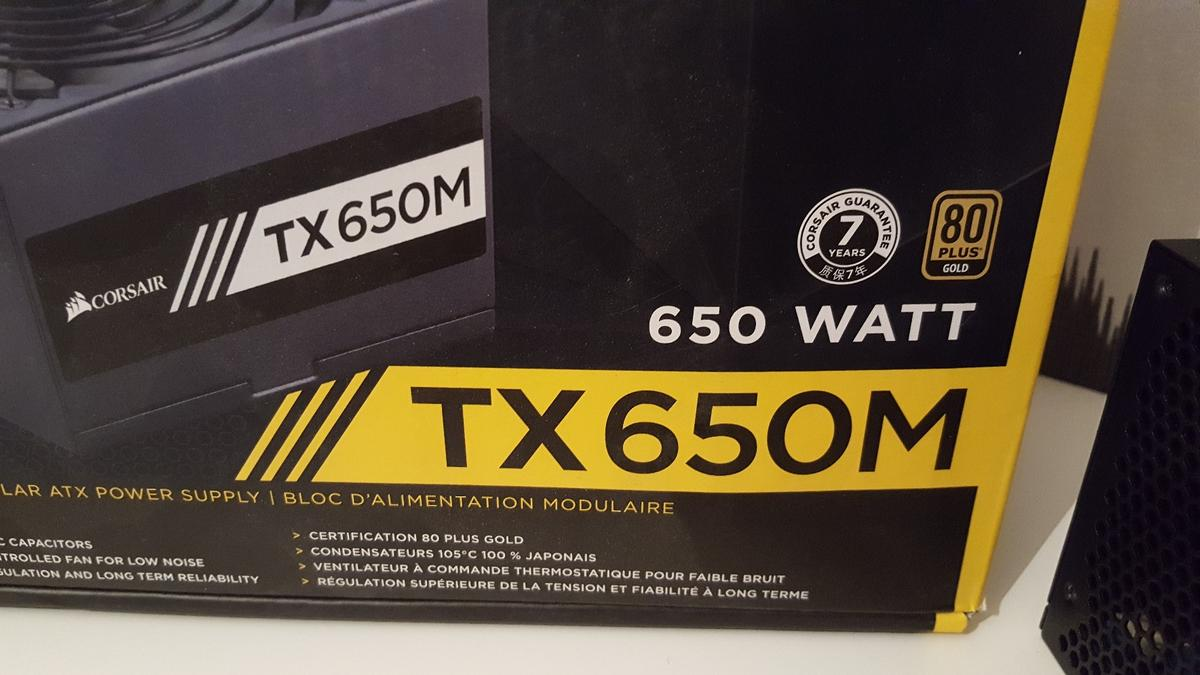 Desktop pc Power supply Corsair TX650M in Peterborough for