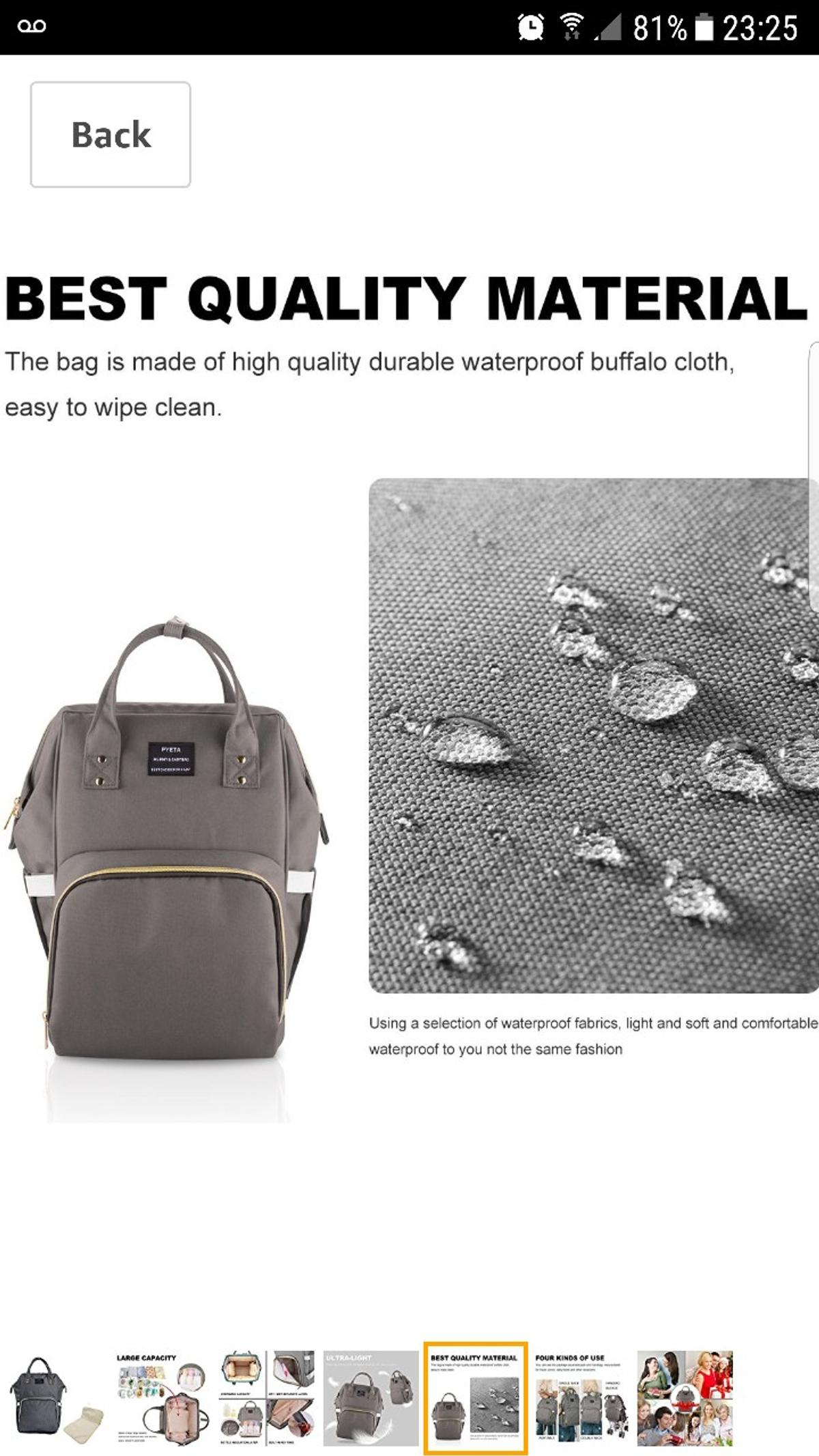 Diaper Bag Nappy Bag Backpack in Wakefield for £20 00 for