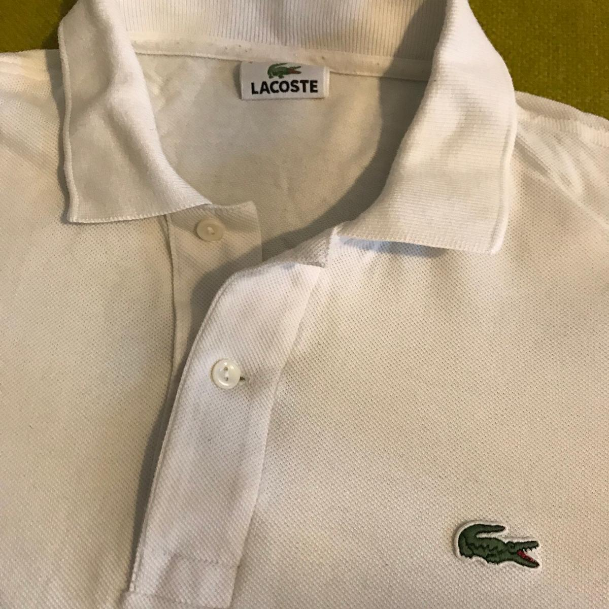 check out 6a2b8 3ce74 Original Lacoste Polo Shirt Weiß Größe 4 / M in 10437 ...